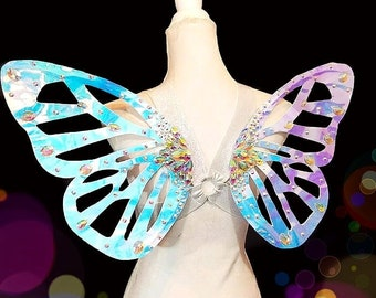 Lg cotton candy monarch harness wings for adults