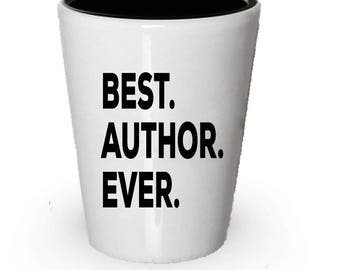 Author Shot Glass, Best Author Ever, Author gift, Gift for Author ,  Birthday Gift, Christmas Present
