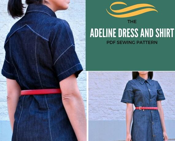 Adeline Taste bis Shirt PDF-Schnittmuster für Frauen Kleidung:
