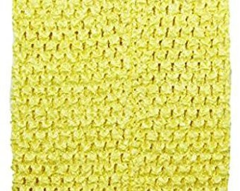 "child adult teen Crochet tutu top elastic tube 1-16 years DIY flower girl wedding dress birthday costume yellow 6"" 7"" 8"" 10"" 12"" 14"""