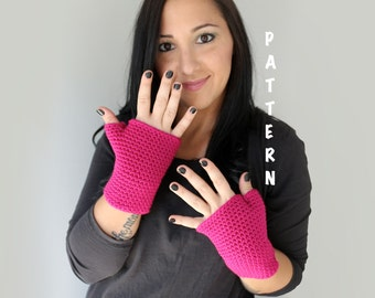 Crochet Fingerless Gloves Pattern, PDF Download PATTERN