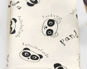 Cotton Jersey Knit Fabric Panda By The Yard