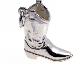 Silver Cowboy Boot