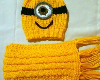 Minion Hat and and Scarf
