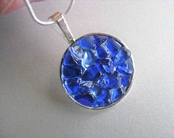 Cobalt and Cornflower Sea Glass Jewelry - Sea Glass Necklace - Unique jewelry - Beach Glass Jewelry -Pure Sea Glass - Prince Edward Island