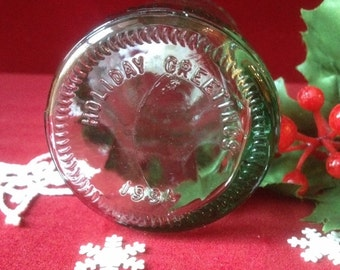 Coca Cola Bottle with Bottom Message Holiday Greetings 1994