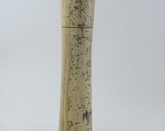 Spices and peppermill grinder in spalted Maple, Elegant style with rod mechanisme  10,75 inch X 2 375 D, article no: 983