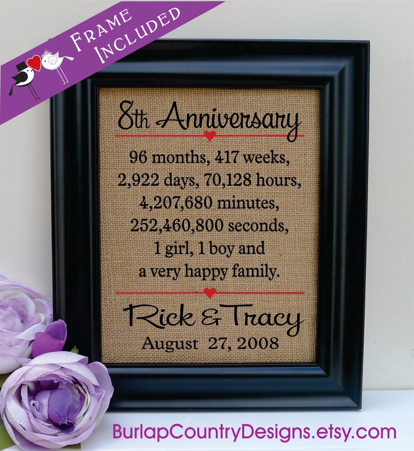 8th anniversaryGift for Husband 8th wedding anniversary gift