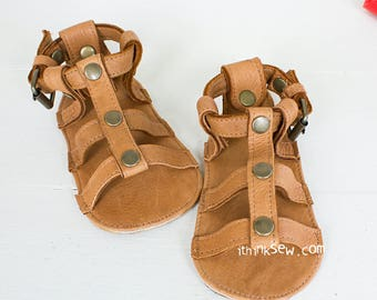 823 Lexis Baby Gladiator Sandals PDF Sewing Pattern