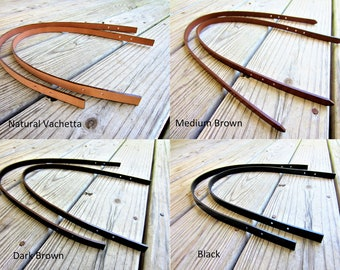 Leather Replacement Strap Handles, Bag Straps, Purse Straps, Leather Handle Straps for Bags with Buckles or Rivets