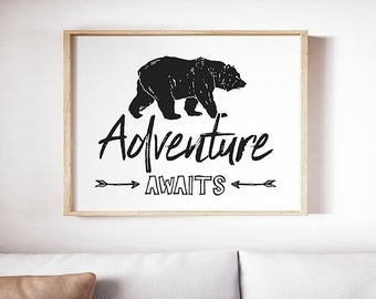 Spry Graphics Adventure Awaits Print / Poster Digital Download