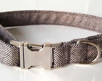 Herringbone Dog Collar