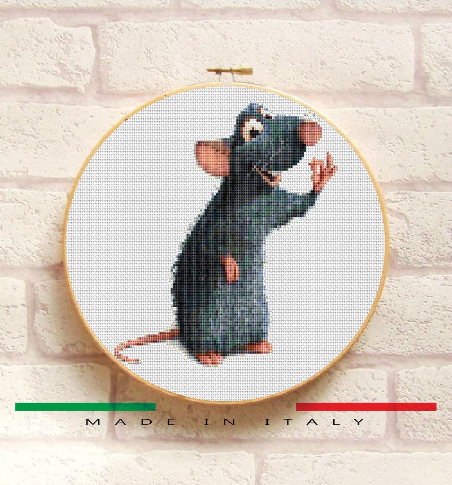 Remy Rat Ratatouille Cross Stitch Pattern Pdf  Embroidery
