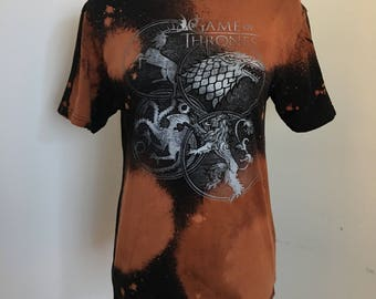 Game of Thrones Reworked Bleach Dyed Tee