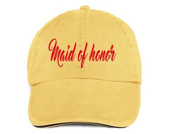 MAID OF HONOR Bridal Baseball Style Hat/Cap/Bridal/Wedding/Special Activities/Parties/Showers