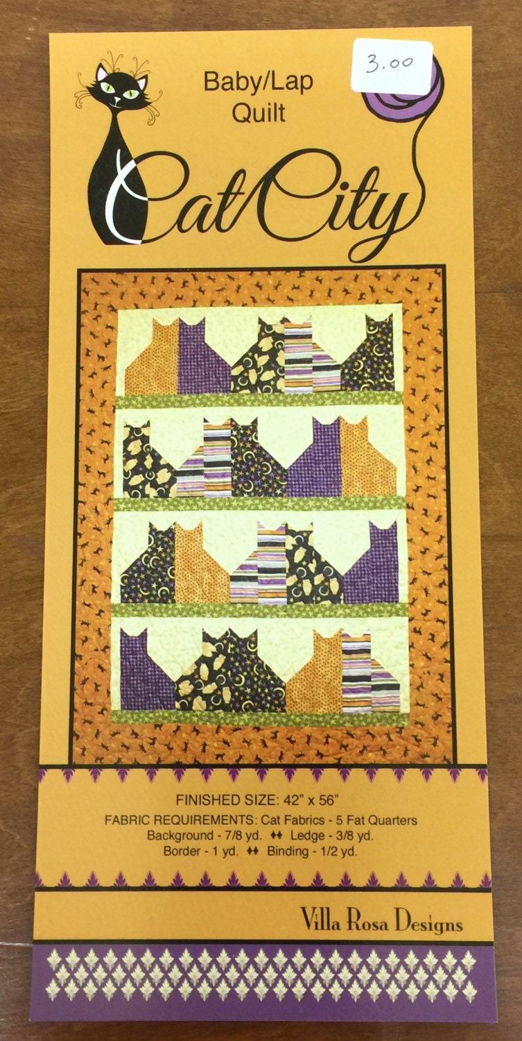 Cat City Quilting Pattern by Villa Rosa Designs from QuiltingByRita ...