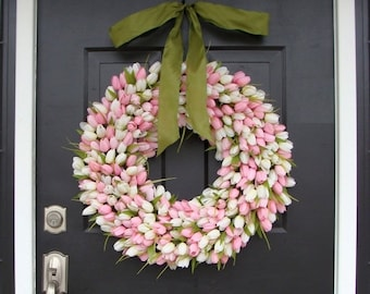 SPRING WREATH SALE 22 inch Spring Wreath- Mother's Day Wreath- Spring Decor- Gift for Mother's Day