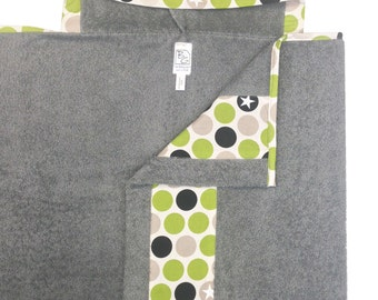 Military Jeep Hooded Towel Gray Green Black