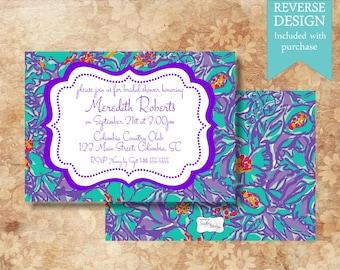 Monogram Bridal Shower Invitation
