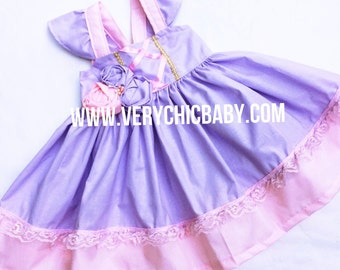 Rapunzel Dress, Rapunzel Dress Girls, Rapunzel Costume, Tangled Costume, Rapunzel Girls Costume, Rapunzel Birthday Outfit, Rapunzel Tangled