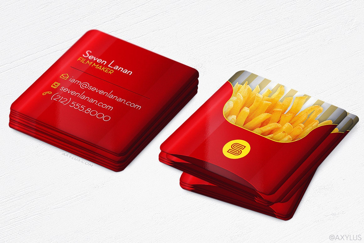 Mini French Fries Cards Restaurant Food Blogger Square