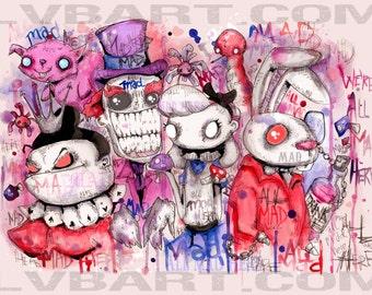 We're All Mad Here Fine Art Print