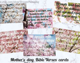 Mother's day bible verses cards bible journaling cards bible bookmarks scripture memory cards bible study cards mother's day scriptures niv
