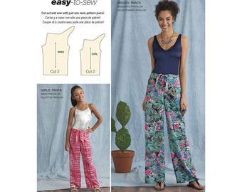 Simplicity Sewing Pattern 8390 Girl's and Misses' Tie Front One-Piece Pants