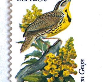 10 Unused Oregon Grape Stamps  // Vintage Oregon State Bird and Flower - Oregon Grape // Vintage Postage Stamps for Mailing