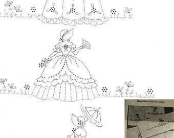 3 Southern Belle / Crinoline Lady Pillowcase embroidery pattern mo567
