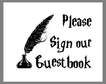 PRINTABLE 8x10 Harry Potter Please Sign Our Guestbook SIGN