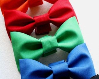 Dog Wedding Bowtie Cat Bow Tie Holiday Black Red Blue Green Orange Yellow