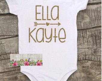 Baby girl coming home outfit - Baby girl Bodysuit - personalized Bodysuit - bodysuit, baby shower gift, outfit, shirt,name Bodysuit