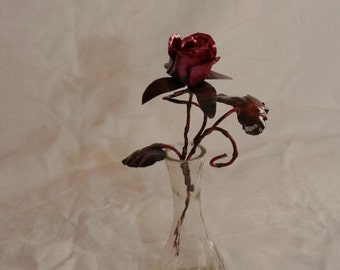 Hand Crafted Copper  Rose