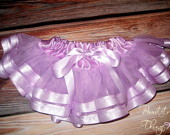 Pettiskirt baby skirt ribbon skirt birthday outfit Pettiskirt lined with Satin Ribbon adapted from Petti Skirt for Baby or Child