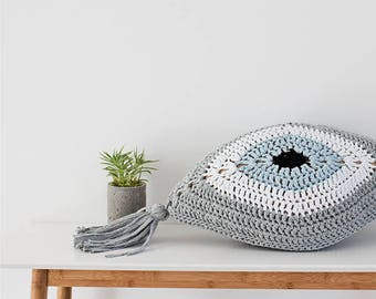 Evil Eye Pillow | Silver