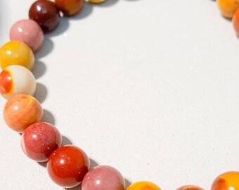 Mookaite bangle elasticated,multi colours,spiritual stone, stretch bangle,stretch bracelet,mood stone,gemstone