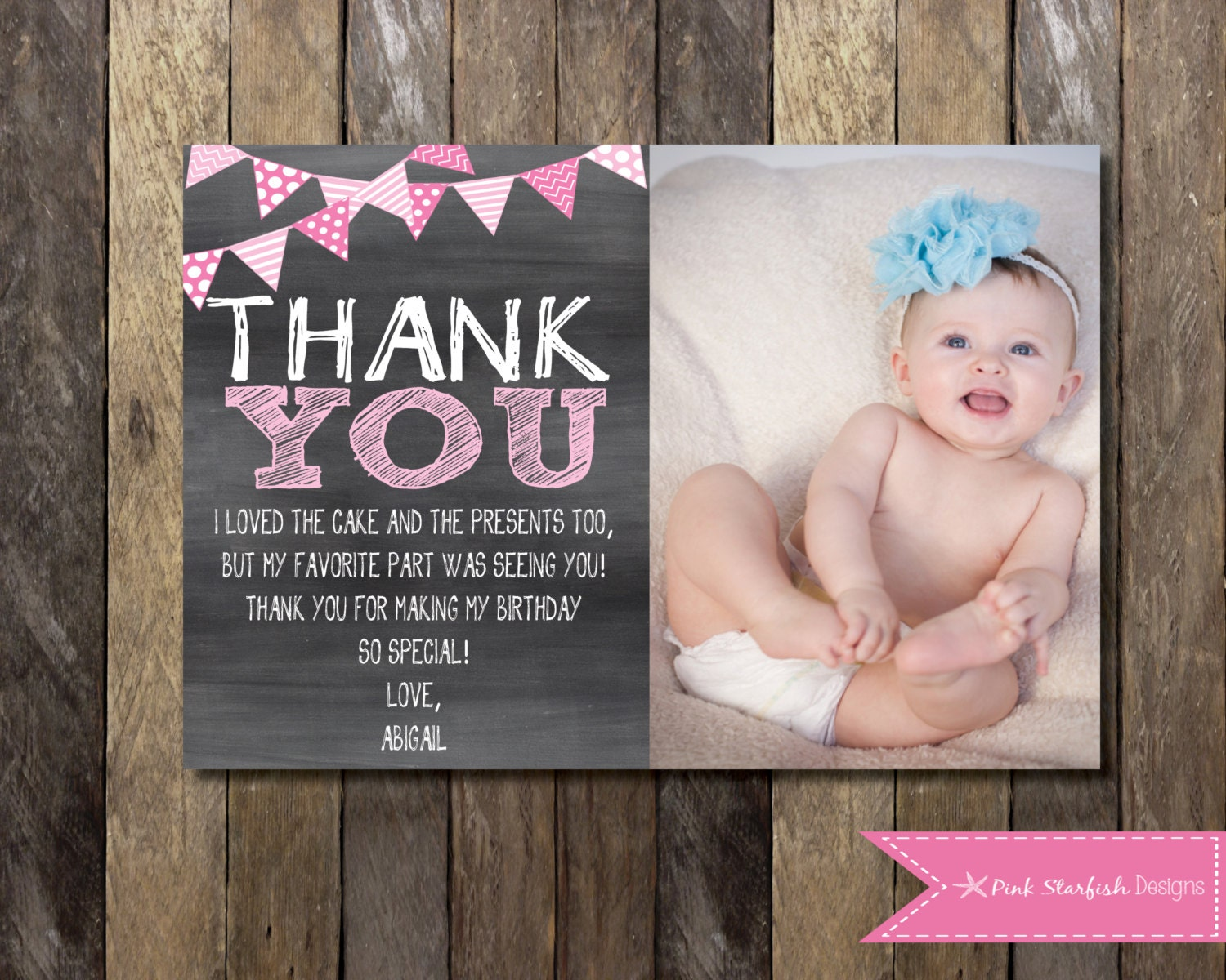 Chalkboard thank you card with picture chalkboard thank you zoom bookmarktalkfo Image collections