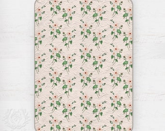 Kids Quilt Rose Peach & Ivory Watercolour Floral Wholecloth Quilt in Cotton Sateen || STYLE 1 || Ships in 6 weeks