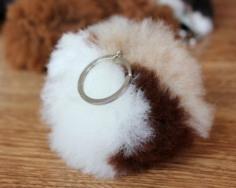 Beautiful Baby Alpaca Wool Keyring
