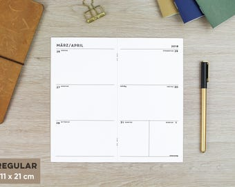 "Calendar Booklet ""Simple""-Different formats for your TN"
