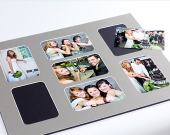 Collage Photo Mat - Fits 16x20 Frame - Multi Opening - Custom Color