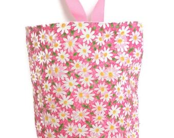 Pink Daisy Waterproof Car Trash Bag, Litter Bag, Car Accessory, Storage Bag, Trash Bag, Waterproof Car Bag, Organizer Bag, Toiletry Bag