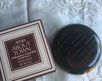 SALE!NIB, NOS Vintage Avon About Town Pressed Powder Compact