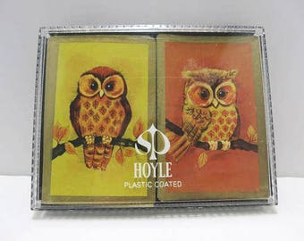Hoyle Double Deck Playing Cards / Owl Design / Stancraft Products