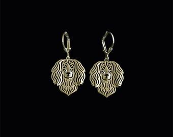 Boykin Spaniel earrings - gold.