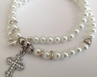Flower Girl Communion Confirmation Pearl Necklace