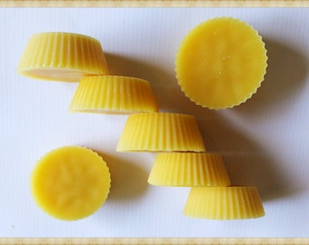 100 % Pure Beeswax Melts ~ 8 Scented Wax Melts ~ Party Favors ~ Sampler Pack ~ Hand poured with love.