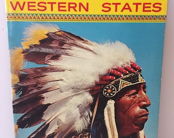 1960's Indians of the Western states souvenir book full color illustrations of the Indians of the Western states