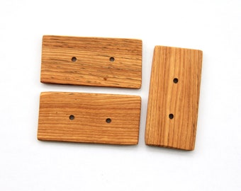 oak buttons - sale - 3.5 x 1.75 inch - 3 pieces